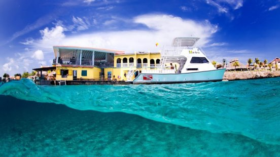 View of Bonaire from the ocean