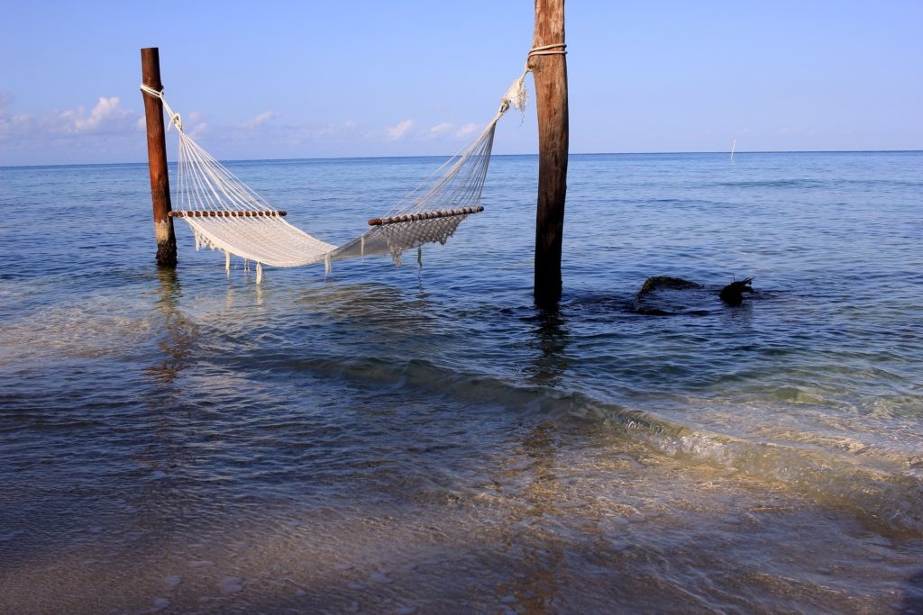 Hammock over the ocean in Cozumel