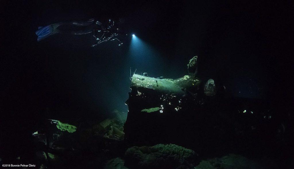 Diver taking photo in Truk Lagoon