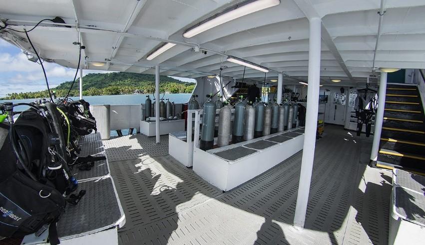 Truk Odyssey boat diving deck