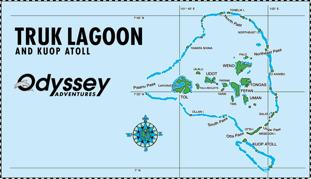 Truk Lagoon Map