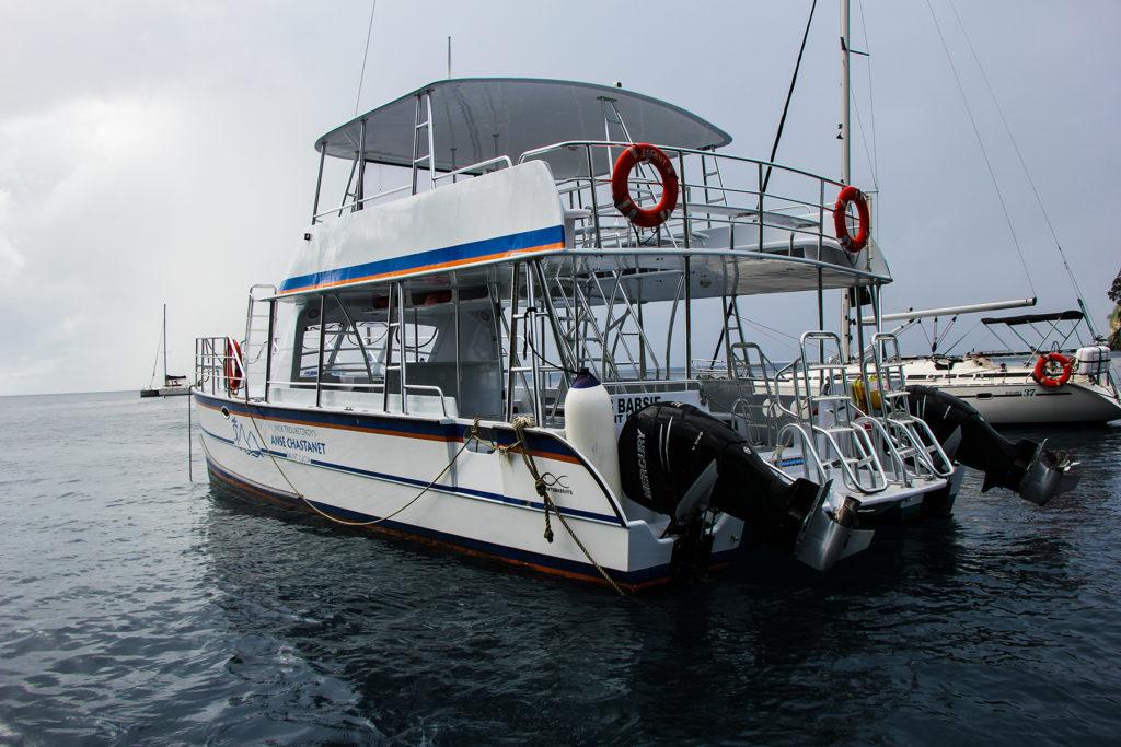 Scuba St. Lucia dive boat