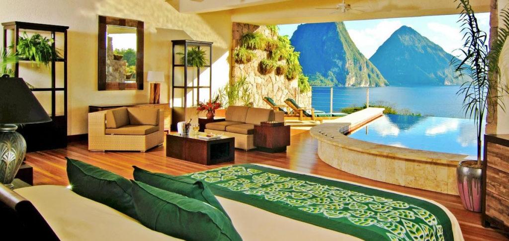 Jade Mountain Star sanctuaries in St. Lucia